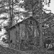 The Shack In Black And White Art Print