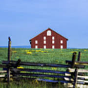 The Sherfy Farm At Gettysburg Art Print