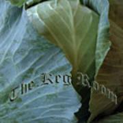 The Shy Cabbage The Keg Room Old English Hunter Green Art Print