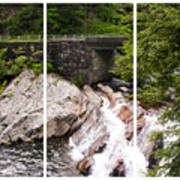 The Sinks Smoky Mountains Triptych Art Print