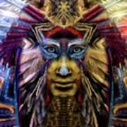 The Sioux Spirit - The Plumed Lion Art Print