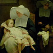 The Sisters Of Mercy Art Print by Henriette Browne
