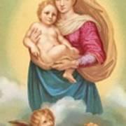 The Sistine Madonna Art Print by Raphael