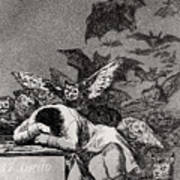 The Sleep Of Reason Produces Monsters Art Print by Goya