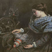 The Sleeping Embroiderer Art Print by Gustave Courbet