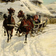 The Sleigh Ride Art Print