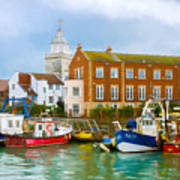 The Small Fishing Port Art Print by Trevor Wintle