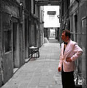 The Smoking Man In Venice Art Print