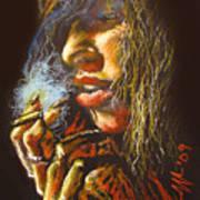 The Smoking Senorita Art Print