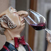 The Snooty Wine Sniffer Art Print