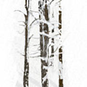The Snow Just Won't Stop Art Print
