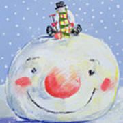 The Snowman's Head Art Print