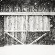 The Snowy Barn II Art Print