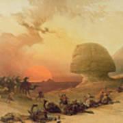 The Sphinx At Giza Art Print by David Roberts