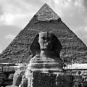 The Sphynx And The Pyramid Art Print