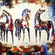 The Spirit Of Texas Horses Art Print