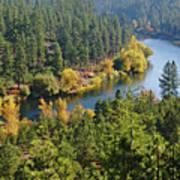 The Spokane River  Art Print