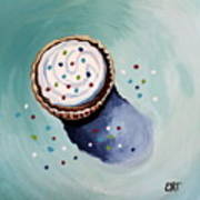 The Sprinkled Cupcake Art Print