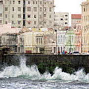 The Spume At Malecon Art Print