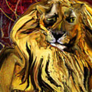 The Squinting Lion Art Print