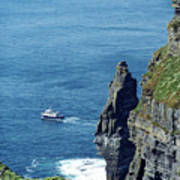 The Stack And The Jack B Cliffs Of Moher Ireland Art Print