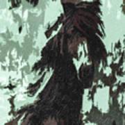 The Stallion At Aztec Art Print