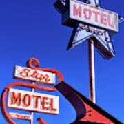 The Star Motel Art Print