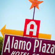 The Star Of Alamo Plaza Art Print
