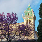 The Steeple Of The Valldemossa Charterhouse In Spring Art Print
