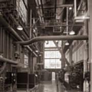 The Stegmaier Brewery Boiler Room Wilkes Barre Pennsylvania 1930's Art Print