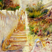 The Steps In Algiers Art Print by Pierre Auguste Renoir