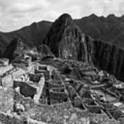 The Stonework Of Machu Picchu Art Print