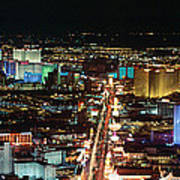 The Strip At Las Vegas,nevada Art Print