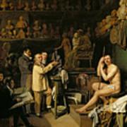 The Studio Of Jean Antoine Houdon Art Print