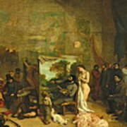 The Studio Of The Painter, A Real Allegory Art Print