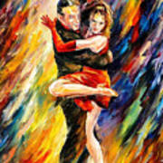 The Sublime Tango - Palette Knife Oil Painting On Canvas By Leonid Afremov Art Print