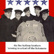 The Sullivan Brothers - They Did Their Part Art Print
