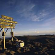 The Summit Of Mt. Kilimanjaro, Africas Art Print
