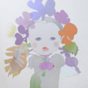 The Sun Flower Child Fairy Art Print
