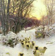 The Sun Had Closed The Winter's Day  Art Print by Joseph Farquharson