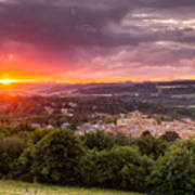 The Sun Sets Over Hexham Art Print