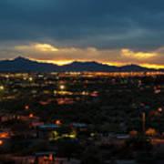 The Sunset From Popago Park Phoenix Arizona Az Golden Art Print