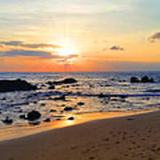 The Sunset Of Maui Art Print