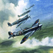 The Supermarine Spitfire Mark Ix Print by Wilfred Hardy