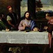 The Supper At Emmaus Art Print by Titian