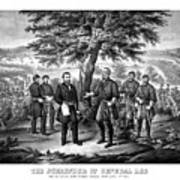 The Surrender Of General Lee  Art Print