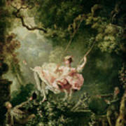 The Swing  Print by Jean-Honore Fragonard