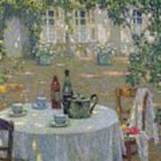 The Table In The Sun In The Garden Art Print