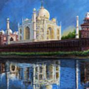 The Taj Mahal Shrine Of Beauty Art Print