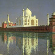 The Taj Mahal Art Print by Vasili Vasilievich Vereshchagin